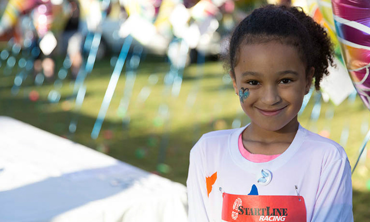 Little girl at Nationwide Children's Hospital Butterfly Run event