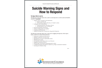 Suicide Warning Signs and How to Respond