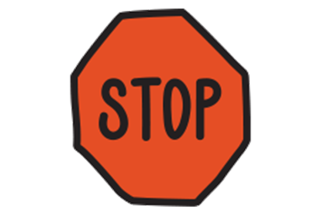 On Our Sleeves Stop Sign