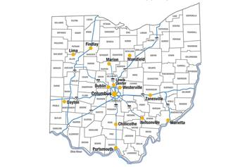 Map of Heart Center Outpatient Clinics