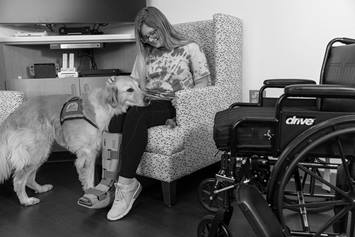 Rehab patient with dog